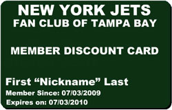 Members Discount Card Front