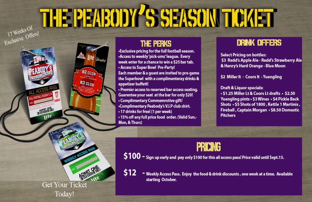 Peabody's Season Pass
